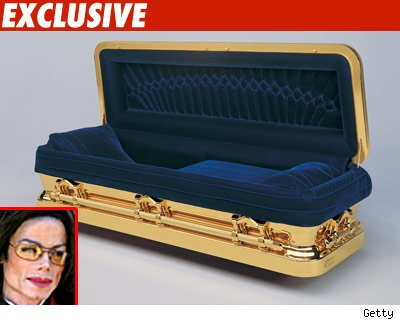 Michael Jackson Gold Casket 