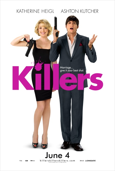 Katherine Heigl and Ashton Kutcher, KILLERS movie poster