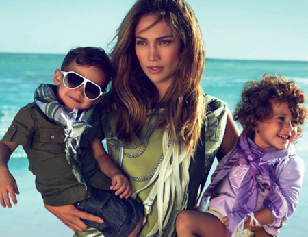 jennifer lopez kids gucci ad. Jennifer Lopez and twins in
